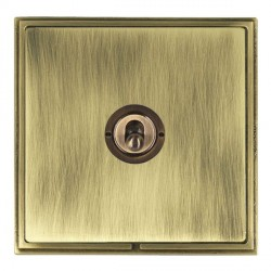 Hamilton Linea-Scala CFX Antique Brass/Antique Brass 1 Gang 2 Way Dolly with Antique Brass Insert