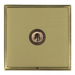 Hamilton Linea-Scala CFX Antique Brass/Satin Brass 1 Gang 2 Way Dolly with Antique Brass Insert
