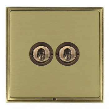 Hamilton Linea-Scala CFX Antique Brass/Satin Brass 2 Gang 2 Way Dolly with Antique Brass Insert