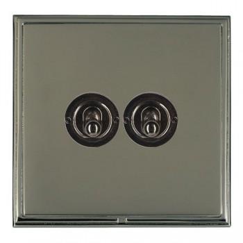 Hamilton Linea-Scala CFX Black Nickel/Black Nickel 2 Gang 2 Way Dolly with Black Nickel Insert