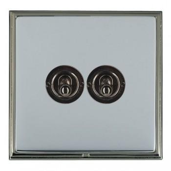 Hamilton Linea-Scala CFX Black Nickel/Bright Steel 2 Gang 2 Way Dolly with Black Nickel Insert