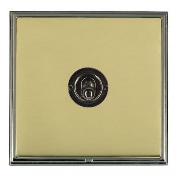 Hamilton Linea-Scala CFX Black Nickel/Polished Brass 1 Gang Intermediate Dolly with Black Nickel Insert