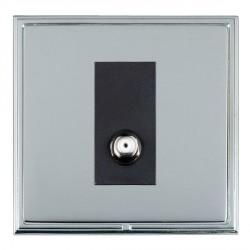 Hamilton Linea-Scala CFX Bright Chrome/Bright Steel 1 Gang Non Isolated Satellite with Black Insert