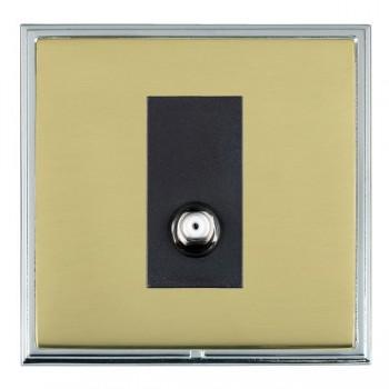 Hamilton Linea-Scala CFX Bright Chrome/Polished Brass 1 Gang Non Isolated Satellite with Black Insert