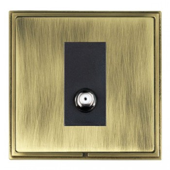 Hamilton Linea-Scala CFX Antique Brass/Antique Brass 1 Gang Isolated Satellite with Black Insert
