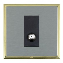 Hamilton Linea-Scala CFX Polished Brass/Satin Steel 1 Gang Non Isolated Satellite with Black Insert