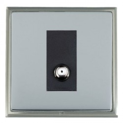 Hamilton Linea-Scala CFX Satin Nickel/Bright Steel 1 Gang Non Isolated Satellite with Black Insert