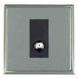 Hamilton Linea-Scala CFX Satin Nickel/Satin Steel 1 Gang Non Isolated Satellite with Black Insert