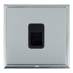 Hamilton Linea-Scala CFX Bright Chrome/Bright Steel 1 Gang Telephone Master with Black Insert