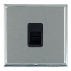 Hamilton Linea-Scala CFX Bright Chrome/Satin Steel 1 Gang Telephone Master with Black Insert