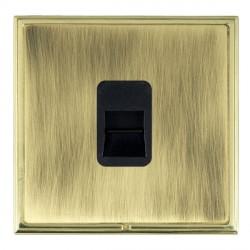Hamilton Linea-Scala CFX Polished Brass/Antique Brass 1 Gang Telephone Master with Black Insert