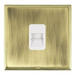 Hamilton Linea-Scala CFX Polished Brass/Antique Brass 1 Gang Telephone Master with White Insert