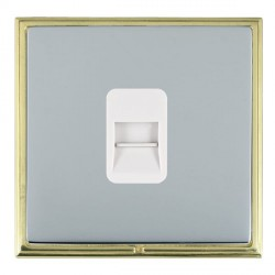 Hamilton Linea-Scala CFX Polished Brass/Bright Steel 1 Gang Telephone Master with White Insert
