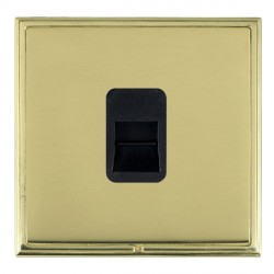 Hamilton Linea-Scala CFX Polished Brass/Polished Brass 1 Gang Telephone Master with Black Insert