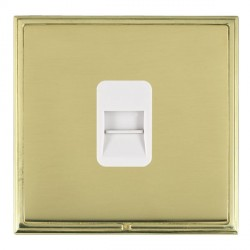 Hamilton Linea-Scala CFX Polished Brass/Polished Brass 1 Gang Telephone Master with White Insert