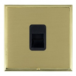 Hamilton Linea-Scala CFX Polished Brass/Satin Brass 1 Gang Telephone Master with Black Insert