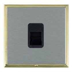 Hamilton Linea-Scala CFX Polished Brass/Satin Steel 1 Gang Telephone Master with Black Insert