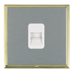 Hamilton Linea-Scala CFX Polished Brass/Satin Steel 1 Gang Telephone Master with White Insert