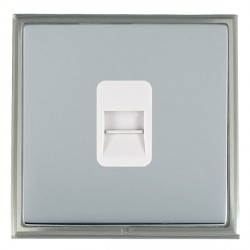 Hamilton Linea-Scala CFX Satin Nickel/Bright Steel 1 Gang Telephone Master with White Insert