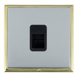 Hamilton Linea-Scala CFX Polished Brass/Bright Steel 1 Gang Telephone Slave with Black Insert