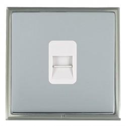 Hamilton Linea-Scala CFX Satin Nickel/Bright Steel 1 Gang Telephone Slave with White Insert