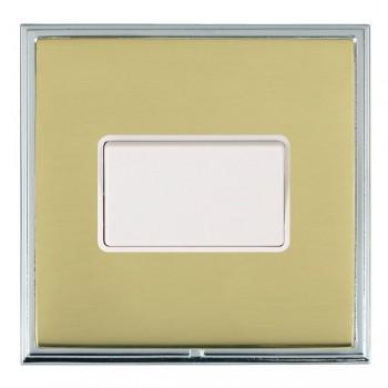 Hamilton Linea-Scala CFX Bright Chrome/Polished Brass 1 Gang 10A Triple Pole Rocker with White Insert