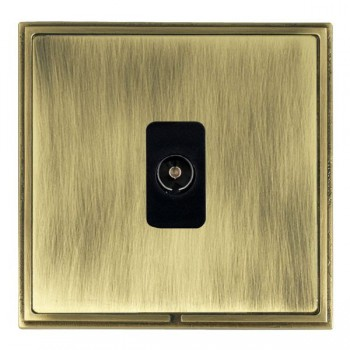 Hamilton Linea-Scala CFX Antique Brass/Antique Brass 1 Gang Non Isolated Television 1in/1out with Black Insert