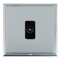 Hamilton Linea-Scala CFX Bright Chrome/Bright Steel 1 Gang Non Isolated Television 1in/1out with Black Insert