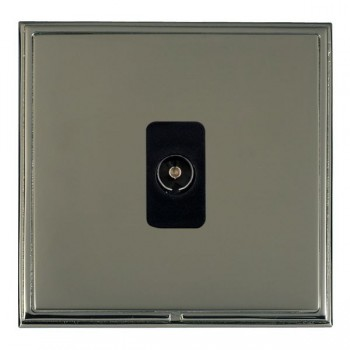 Hamilton Linea-Scala CFX Black Nickel/Black Nickel 1 Gang Non Isolated Television 1in/1out with Black Insert