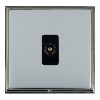 Hamilton Linea-Scala CFX Black Nickel/Bright Steel 1 Gang Non Isolated Television 1in/1out with Black Insert