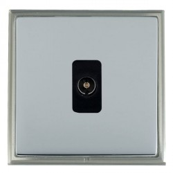 Hamilton Linea-Scala CFX Satin Nickel/Bright Steel 1 Gang Non Isolated Television 1in/1out with Black Insert