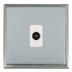 Hamilton Linea-Scala CFX Satin Nickel/Bright Steel 1 Gang Non Isolated Television 1in/1out with White Insert