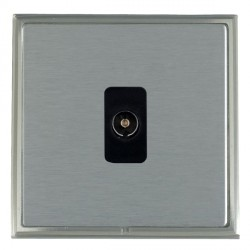Hamilton Linea-Scala CFX Satin Nickel/Satin Steel 1 Gang Non Isolated Television 1in/1out with Black Insert