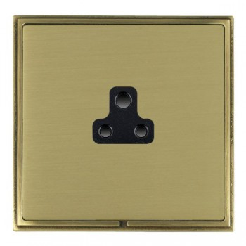 Hamilton Linea-Scala CFX Antique Brass/Satin Brass 1 Gang 2A Unswitched Socket with Black Insert
