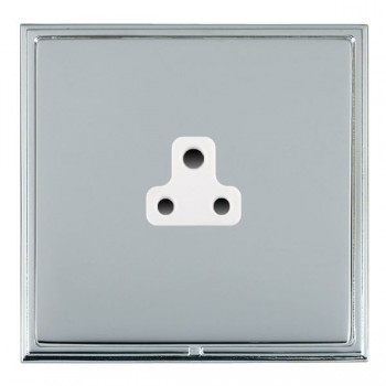 Hamilton Linea-Scala CFX Bright Chrome/Bright Steel 1 Gang 2A Unswitched Socket with White Insert