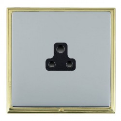 Hamilton Linea-Scala CFX Polished Brass/Bright Steel 1 Gang 2A Unswitched Socket with Black Insert