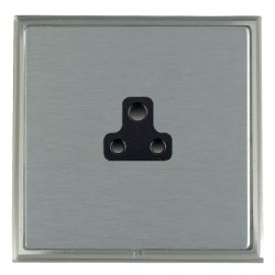 Hamilton Linea-Scala CFX Satin Nickel/Satin Steel 1 Gang 2A Unswitched Socket with Black Insert