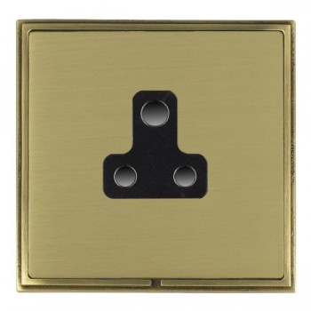 Hamilton Linea-Scala CFX Antique Brass/Satin Brass 1 Gang 5A Unswitched Socket with Black Insert