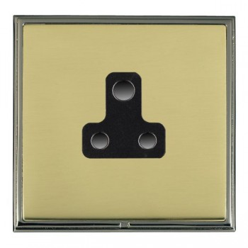 Hamilton Linea-Scala CFX Black Nickel/Polished Brass 1 Gang 5A Unswitched Socket with Black Insert