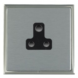 Hamilton Linea-Scala CFX Satin Nickel/Satin Steel 1 Gang 5A Unswitched Socket with Black Insert