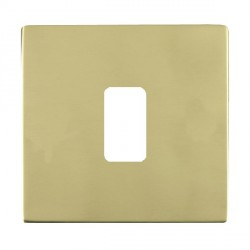 Hamilton Sheer CFX Grid Polished Brass 1 Gang Concealed Fix Grid Fix Aperture Plate with Grid