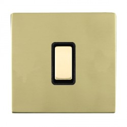 Hamilton Sheer CFX Polished Brass 1 Gang Multi way Touch Master Trailing Edge with Black Insert