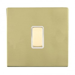 Hamilton Sheer CFX Polished Brass 1 Gang Multi way Touch Slave Trailing Edge with White Insert