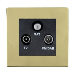 Hamilton Sheer CFX Polished Brass TV+FM+SAT (DAB Compatible) with Black Insert
