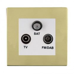 Hamilton Sheer CFX Polished Brass TV+FM+SAT (DAB Compatible) with White Insert