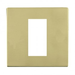 Hamilton Sheer CFX EuroFix Plates Polished Brass Single Plate c/w 1 EuroFix Apertures + Grid