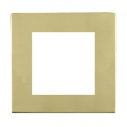 Hamilton Sheer CFX EuroFix Plates Polished Brass Single Plate c/w 2 EuroFix Apertures + Grid