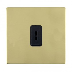 Hamilton Sheer CFX Polished Brass 1 Gang 2 Way Key Switch with Black Insert