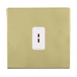 Hamilton Sheer CFX Polished Brass 1 Gang 2 Way Key Switch with White Insert