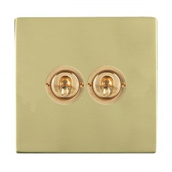 Hamilton Sheer CFX Polished Brass 2 Gang 2 Way Dolly with Polished Brass Insert